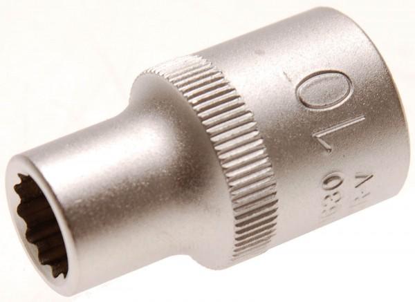 BGS 10630 Steckschlüssel-Einsatz 12-kant, 12,5 (1/2), 10 mm