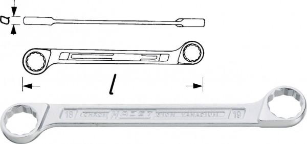 Hazet 610N-18X19 Doppel-Ringschlüssel s 18 mm s 19 mm