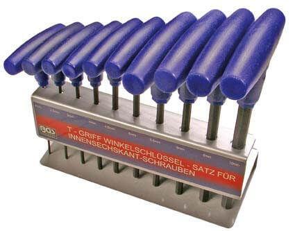 BGS 791 Innensechskantschlüssel Satz mit T-Griff 2-10 mm, 10-teilig