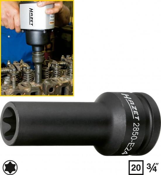 Hazet 2850-E20 TORX Zylinderkopf-Werkzeug s E20 , 20 mm 3/4 Zoll Auen TORX