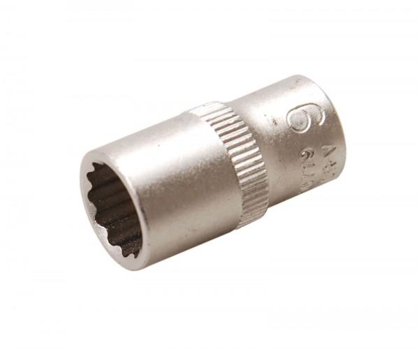 BGS 10779 Steckschlüssel-Einsatz, 6,3 (1/4), 12-kant, 9 mm