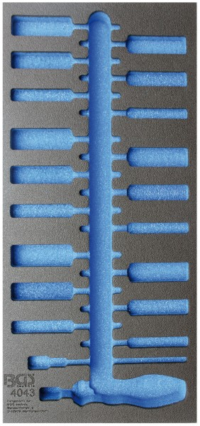 BGS 4043-1 1/3 Werkstattwageneinlage, leer für: Bürsten-Sortiment, 20-tlg.