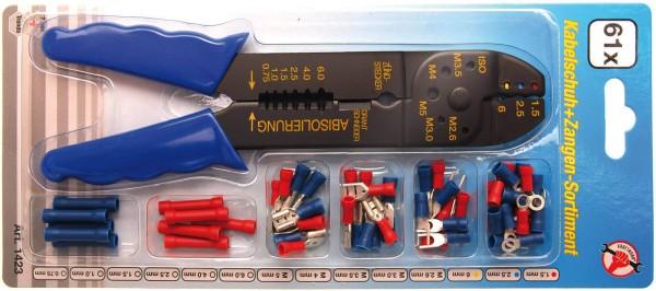 BGS 1423 Kabelschuh-Sortiment, 60 isolierte Verbinder