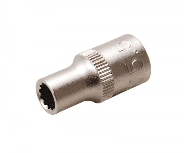 BGS 10772 Steckschlüssel-Einsatz, 6,3 (1/4), 12-kant, 5,5 mm