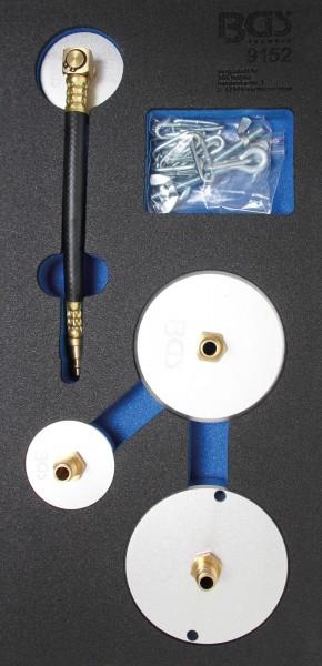 BGS 9152 Adaptersatz für Druckluft-Bremsenentlüfter, 4-tlg.