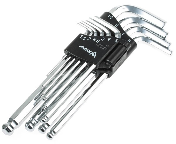 Asta A-709BP2 Innensechskant Schlüssel 10-tlg. mit Kugelkopf