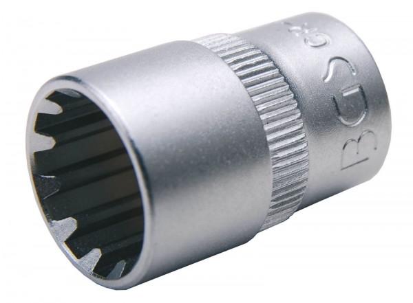 """BGS 10107 Steckschlüssel-Einsatz """"Gear Lock"""", 1/4"""", 7 mm"""