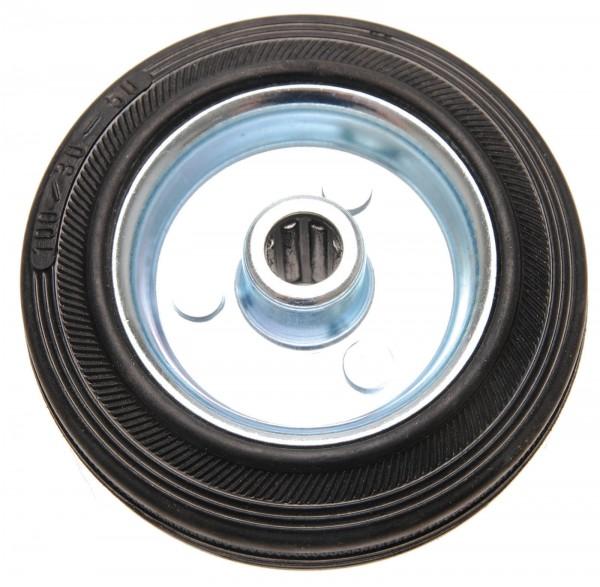BGS 80959 Vollgummi-Rad 100 mm, Stahlfelge
