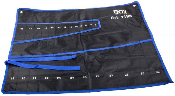 BGS 1196-LEER Ring Maulschlüssel Tasche für 25 Schlüssel