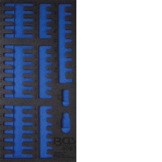 BGS 4093-1 1/3 Werkstattwageneinlage, leer für: Kombi-Bit-Set, 49-tlg.