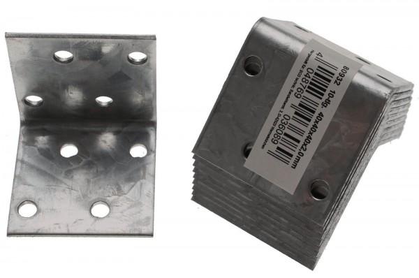 BGS 80932 Winkelverbinder 40x40x40 mm, 10-tlg.