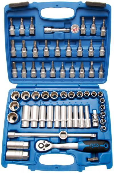 BGS 2218 Steckschlüsselsatz 10 (3/8), 61-tlg., 6-kant Pro Torque Einsätze