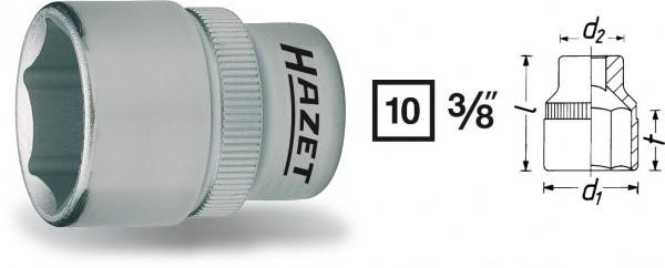 Hazet 880-8 6kt.-Steckschlüssel-Einsatz Innenvierkant 10 mm 3/8 Zoll