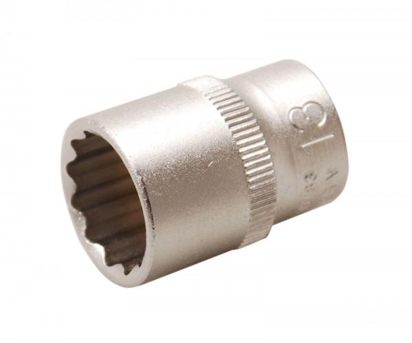 BGS 10783 Steckschlüssel-Einsatz, 6,3 (1/4), 12-kant, 13 mm