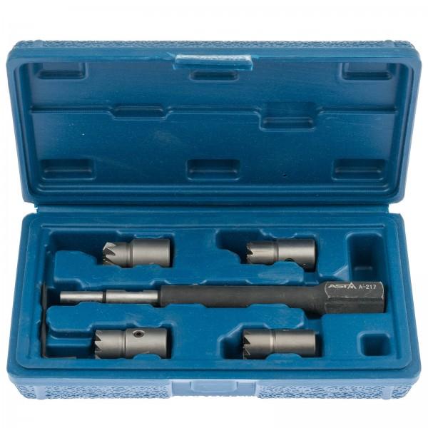 Asta A-217 Injektoren Dichtsitz-Fräser-Set für CDI Motoren 5-tlg.