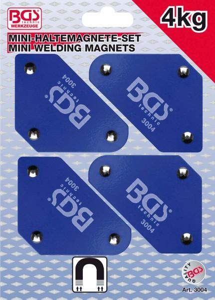 BGS 3004 Mini-Magnethalter-Satz, 45°-90°-135°, 4-tlg.