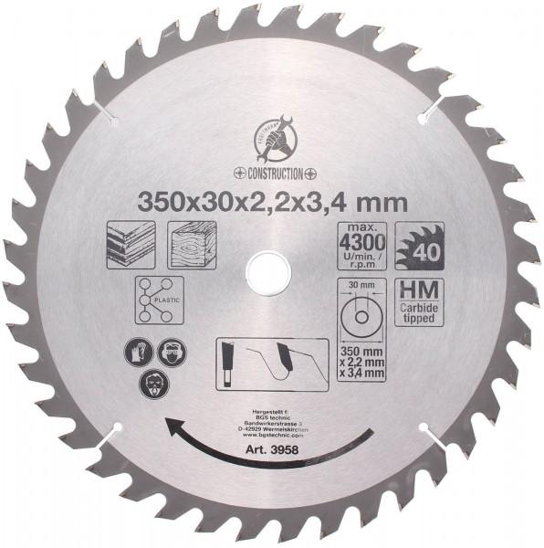 BGS 3958 Hartmetall-Kreissägeblatt, Ø 350 mm