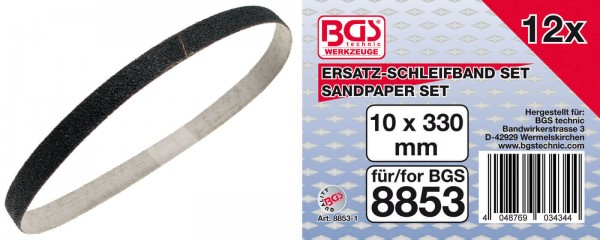 BGS 8853-1 Ersatz-Schleifband Set