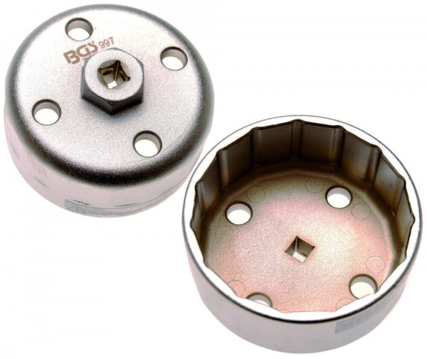 BGS 997 Ölfilterkappe für Hyundai / Kia 88.8 mm 15-kant