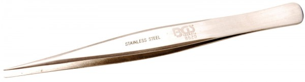 BGS 8620 Edelstahl-Spitzpinzette, 130 mm, gerade