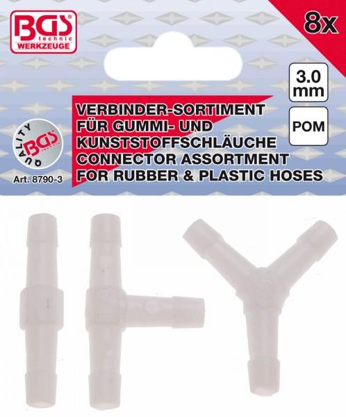 BGS 8790-3 Schlauchverbinder-Sortiment, 3 mm