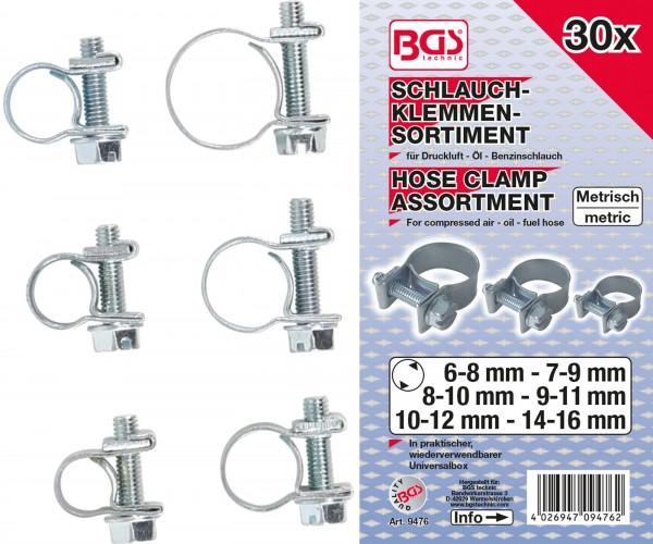 BGS 9476 Schlauch-Klemmen-Sortiment, 30-tlg.