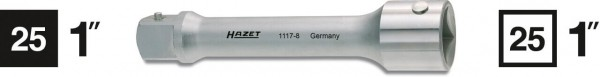 Hazet 1117-8 Verlängerung Innenvierkant 25 mm 1 Zoll Vierkant 25 mm 1 Zoll