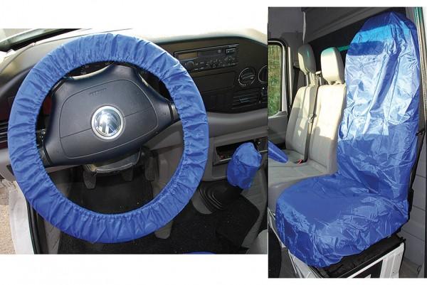 BGS 66531 Universal Sitz- und Lenkrad Schonbezug Set Polyester