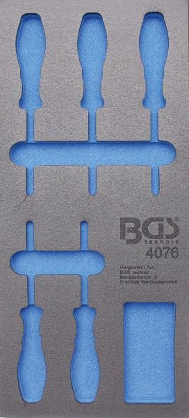 BGS 4076-1 1/3 WWE, leer für: T-Profil-Schraubendreher, T6-T10, 5-tlg.