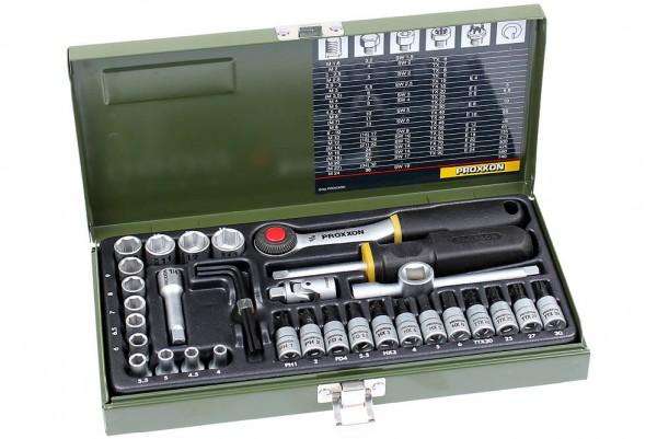 Proxxon 23080 Feinmechaniker Steckschlüssel Satz 36-tlg.