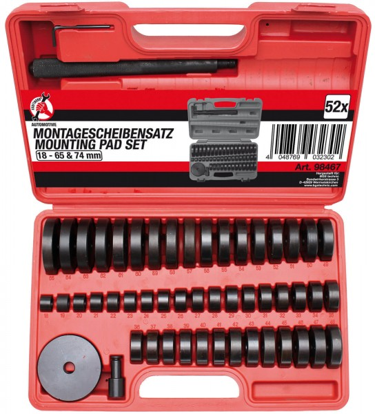 BGS 98467 Radlager-Montagescheibensatz, 52-tlg.