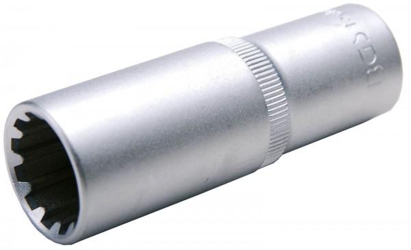 """BGS 10254 Steckschlüssel-Einsatz """"Gear Lock"""", 1/2"""", tief, 14 mm"""
