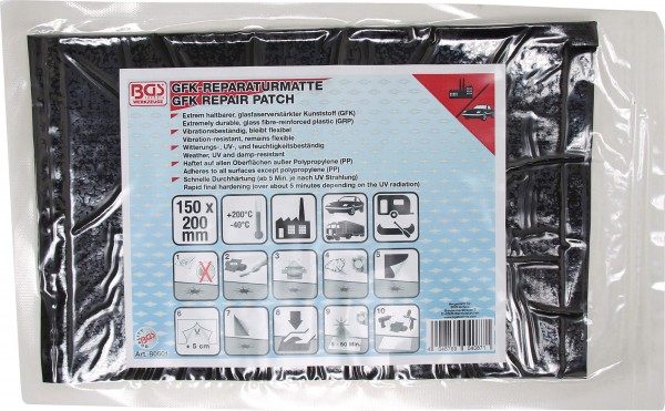 BGS 80601 GFK-Reparaturmatte, 150 x 220 mm