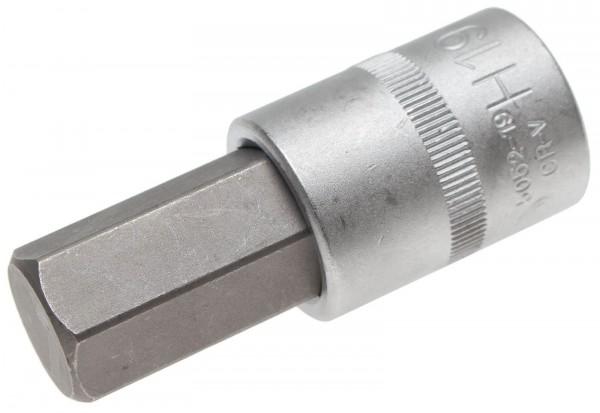 BGS 5052-19 Bit-Einsatz, Innen-6-kant, 12,5 (1/2), 19 mm
