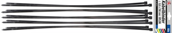 BGS 80773 Kabelbinder-Satz 8,0x700 mm, 10-tlg.