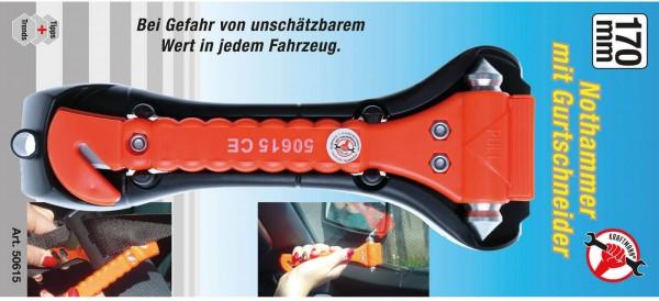 BGS 50615 Nothammer mit Gurtschneider