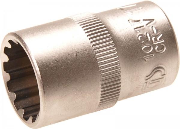 """BGS 10217 Steckschlüssel-Einsatz """"Gear Lock"""", 1/2"""", 17 mm"""