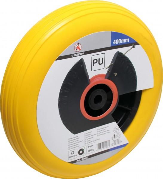 BGS 80657 PU-Rad für Schubkarre, gelb, 400 mm
