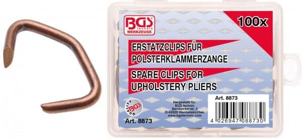 BGS 8873 Polsterklammern, 100 Stk.