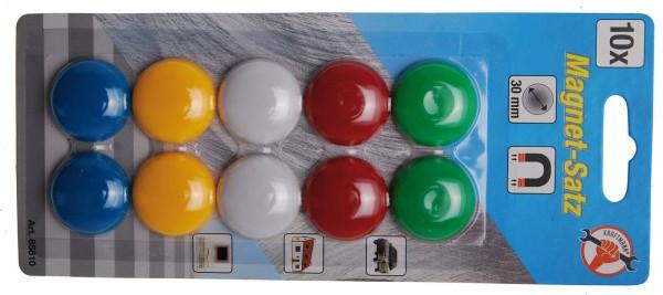 BGS 85810 Magnet-Satz, Ø 30 mm, 10-tlg.