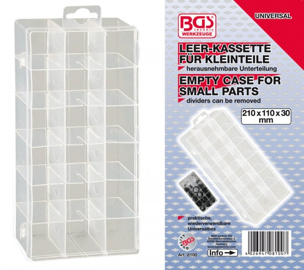BGS 8100 Leer-Kassette für Kleinteile