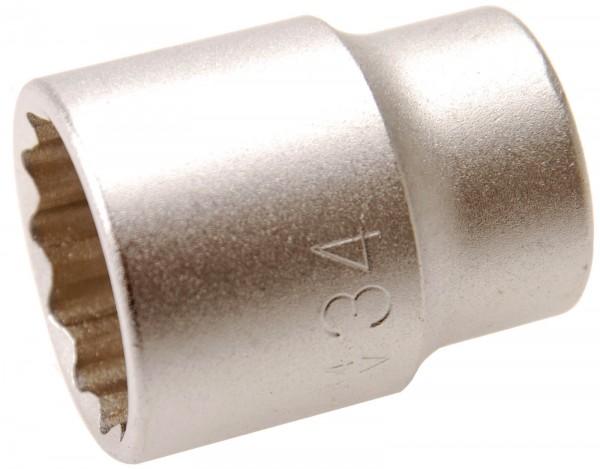 BGS 7434 Steckschlüssel-Einsatz, 20 (3/4), 12-kant, 34 mm