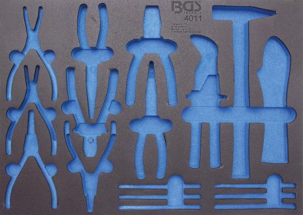 BGS 4011-5 Werkstattwageneinlage für Zangen, Hammer, Splinttreiber