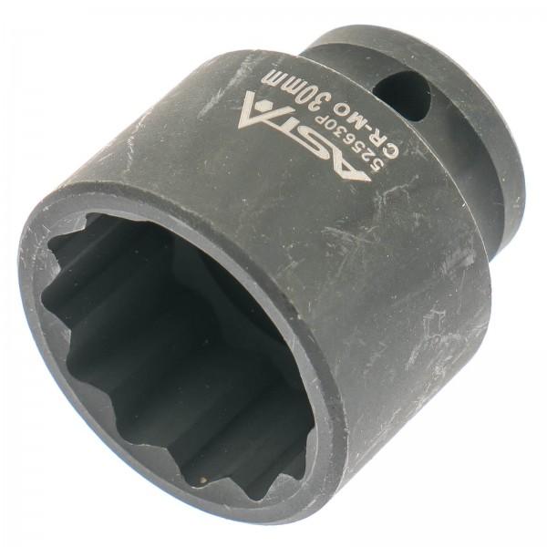 """Asta 525630P Vielzahn Steckschlüssel Einsatz 1/2"""" SW 30 mm"""