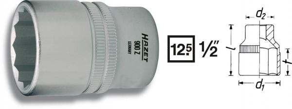 Hazet 900AZ-15/16 Doppel-6kt.-Steckschlüssel-Einsatz , 125 mm 1/2 Zoll