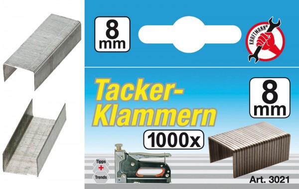 BGS 3021 Klammern à 1000 Stück, 8 mm