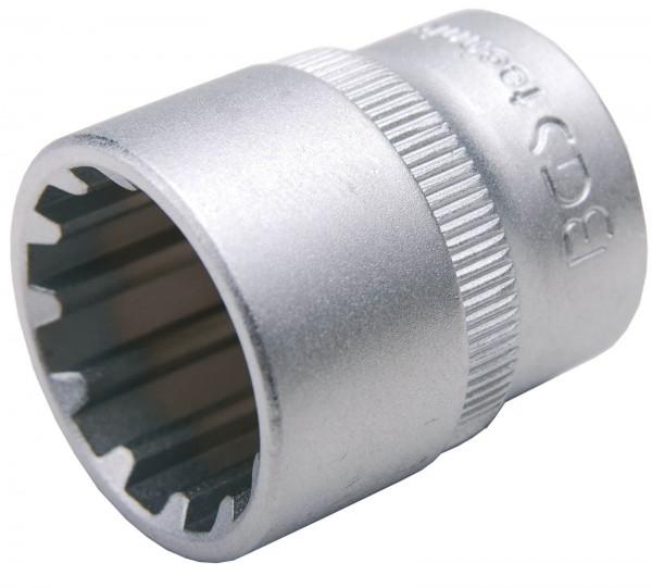 """BGS 10318 Steckschlüssel-Einsatz """"Gear Lock"""", 3/8"""", 18 mm"""